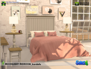 Sims 4 — kardofe_Moonlight Bedroom by kardofe — Double bedroom made up of ten new meshes Bed Night table Wardrobe Table