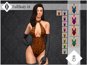 Sims 4 — FullBody 14 by AleNikSimmer — Bodysuit inspired by Rey Ortiz's one made for Kylie Jenner. On the back there are