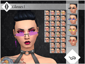 Sims 4 — Glasses 1 by AleNikSimmer — Triangular opaque glasses for male and female sims, they come in 34 colors. Due to