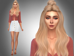 Sims 4 — Tessa Kaminski by Mini_Simmer — Name: Tessa Kaminski Age: Young Adult Traits: Outgoing, Art Lover, Neat..