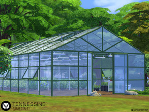Sims 4 — Tennessine Garden - Building a Greenhouse by wondymoon — Build a greenhouse for your farmer Sims! Improve your