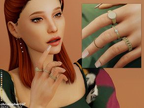 Sims 4 — Monet Rings / Christopher067 by christopher0672 — This a small ring set consisting of one chunky chain ring, one