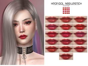Sims 4 — LMCS Kpop Idol N69 Lipstick  by Lisaminicatsims — -New Mesh -HQ Compatible -16 Swatches -All Skin