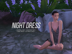 Sims 4 — Night dress by Alexa_Catt — Short Dress From teen to elder 20 swatches HQ compatible Original mesh All LODs