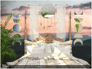Sims 4 — Set of Mirrors III Boho by Severinka_ — Set of Mirror in a Boho style The set includes 8 objects: - mirror