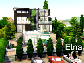Sims 4 — Etna by GenkaiHaretsu — Modern big mansion for family!