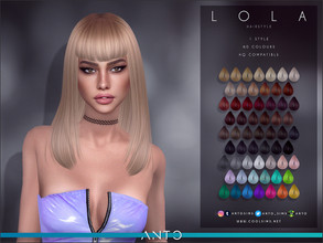 Sims 4 — Anto - Lola (Hairstyle) by Anto — Long bob hairstyle
