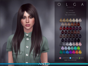 Sims 4 — Anto - Olga (Hairstyle) by Anto — Mid lenght hairstyle
