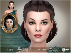 Sims 4 — Gone with the Wind - Scarlett O'Hara by BAkalia — Hello :) I present you my version Scarlett O'Hara. She is a