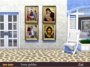 Sims 4 — Icons golden by evi — Traditional icons that you can find in small Greek Aegean churces