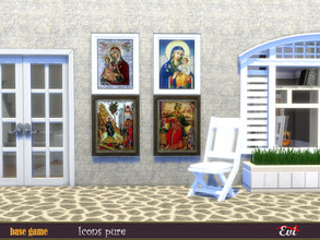 Sims 4 — Icons pure by evi — Traditional icons that you can find in small Greek Aegean churces