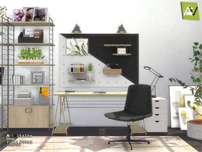 Sims 4 — Yucca Office by ArtVitalex — - Yuma Bathroom - ArtVitalex@TSR, Aug 2020 - All objects three has a different