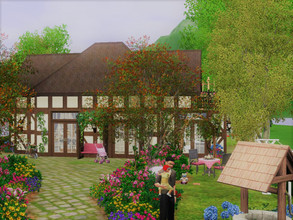 Sims 3 — Maison de Campagne by sgK452 — nice cottage with 1 adult bedroom 1 girl's room with also the possibility of a