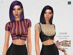 Sims 4 — Carvin Captoor Jenne Top RC by Elfdor — Its a standalone recolor of Carvin Captoor top and you will need the