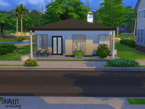 Sims 4 — Small Modern House (No CC) by linavees — Little home for a small family. Basic game. Starting house. The house