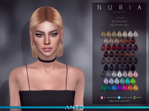 Sims 4 — Anto - Nuria (Hairstyle) by Anto — Short hair for your sims