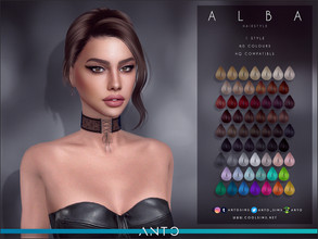 Sims 4 — Anto - Alba (Hairstyle) by Anto — Updo with bun for your sims