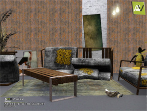 Sims 3 — After Life To The Comfort by ArtVitalex — - Extinction Living Room - ArtVitalex@TSR, Aug 2020 - All objects are