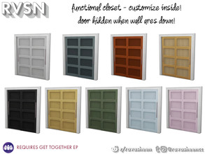 Sims 4 — Hang Around Double Closet Doors by RAVASHEEN — When your clothes cost as much as a small army it would be a
