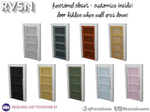 Sims 4 — Hang Around Pocket Closet Door by RAVASHEEN — When your clothes cost as much as a small army it would be a crime