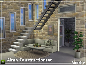Sims 4 — Alma Constructionset Part 10  by Mutske — This is tenth and last part of the Alma Construction. With arches and