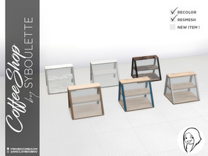 Sims 4 — CoffeeShop - Counter Display by Syboubou — This is a display case that you can put on any surface you like. It