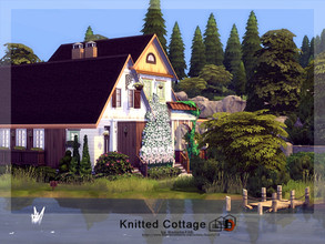 Sims 4 — Knitted Cottage by Danuta720 — A stylish country cottage. The house was built in The Windenburg. Lot size: 20x20