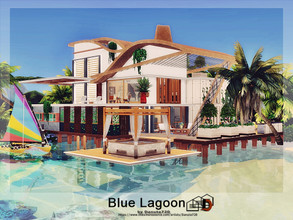 Sims 4 — Blue Lagoon by Danuta720 — A comfortable villa on a beautiful tropical island. The cozy atmosphere inside and