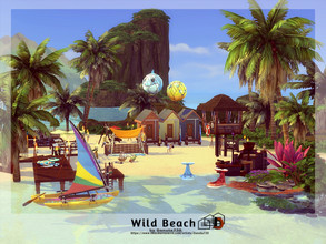 Sims 4 — Wild Beach by Danuta720 — On this tropical beach, you will experience an unforgettable adventure. - You will