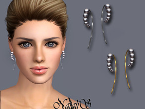 Sims 3 — NataliS TS3 Graduated pearl wire earrings by Natalis — Graduated pearl wire earrings. FT-FA-FE