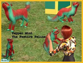 Sims 2 — Festive Feline by Small Town Sim — Pepper Mint the Festive Feline. He would love to be apart of your family all