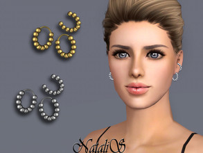 Sims 3 — NataliS TS3 Beaded cuff and hoop earrings  by Natalis — Beaded cuff and hoop earrings. FT-FA-YA