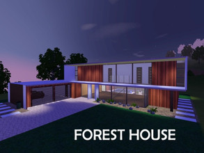 Sims 3 — The Forest House by BeckyDesignsHomes — Modern South African home. 4 Bedrooms,4 Bathrooms, Utility Room, Walk in