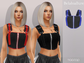 Sims 4 — Belaloallure_Tiaa top by belal19972 — Simple cropped top for your sims ,enjoy .