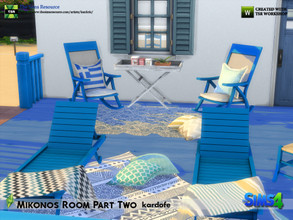 Sims 4 — kardofe_Mikonos Room Part Two_ by kardofe — Second part of the Mikonos room with seven new meshes and three