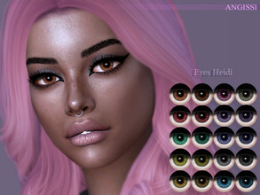 Sims 4 — EYES-Heidi by ANGISSI — *For all questions go here - angissi.tumblr.com Facepaint category 20 colors HQ