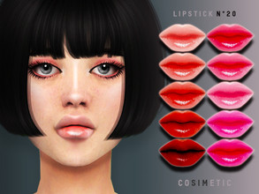 Sims 4 — Lipstick N20 by cosimetic — - This lipstick can use on all genders and from teen to elder. - Contains [ 15 ]