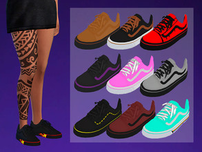 Sims 4 — Vans Old Skool Design - Retexture - Need mesh by ZS27 — I was looking for content of this style for a long time