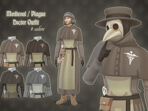 Sims 4 — Medieval / Plague Doctor Outfit by kennetha_v — Medieval Doctor Outfit for your medieval settings. Or even a