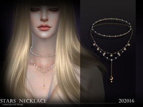 Sims 4 — S-Club ts4 LL Necklace 202016 by S-Club — Stars diamond necklace, hope you like, thank you.