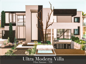 Sims 4 — Ultra Modern Villa by Mini_Simmer — This is an ultra modern house with a Black and White color scheme. It has 3