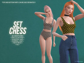 Sims 4 — Set Chess by Alexa_Catt — *Can be used separately as it is shown on preview! From teen to elder 20 swatches HQ