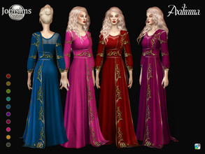 Sims 4 — Axilinma dress by jomsims — Axilinma dress Axilinma dress Sims 4 for her in 10 shades period style dress with