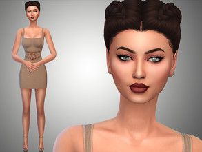 Sims 4 — Julia Hansen by Mini_Simmer — Download the CC from the Creator notes (by clicking on the text) Don't reclaim or