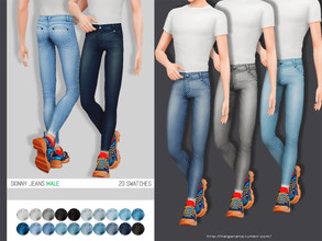 Sims 4 — helgatisha Skinny jeans - female and male by HelgaTisha — 20 swatches base game compatible new mesh custom