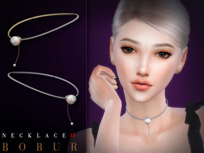 Sims 4 — Bobur Necklace 15 by Bobur2 — Pearl Necklace for female 4 colors HQ I hope you like it
