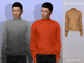 Sims 4 — Belaloallure_Salem sweater by belal19972 — cozy and worm turtle neck sweater