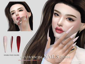Sims 4 — S-Club ts4 WM Nails 202010 New mesh  by S-Club — Nails, 16 swatches, hope you like, thank you.