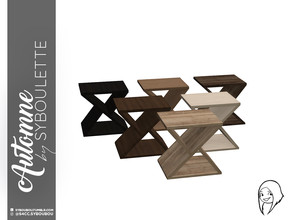 Sims 4 — Automne - Endtable by Syboubou — A geometrical and very design end table. It's very small to be used like accent