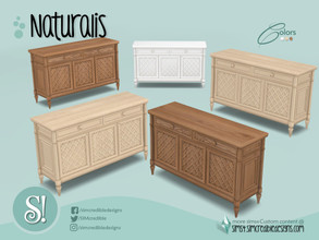 Sims 4 — Naturalis Dresser by SIMcredible! — by SIMcredibledesigns.com available at TSR 3 colors variations